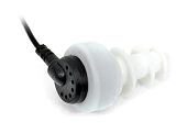 Single mini earbud with eartip
